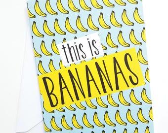Bananas Blank Greeting Card
