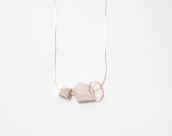 Rose Gold Minimalist Necklace — 019