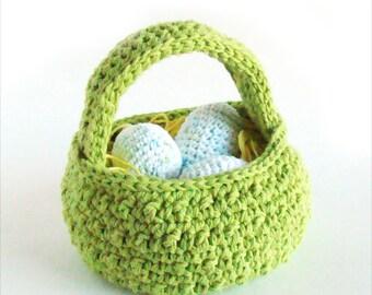 Easter Egg Basket Crochet Pattern PDF INSTANT DOWNLOAD