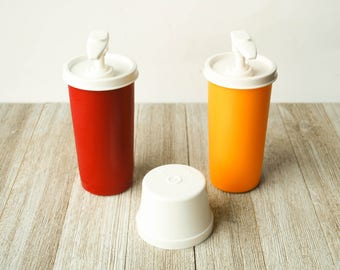Ketchup and Mustard Tupperware Containers Vintage |