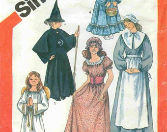 Little Girls Costumes, Vintage Pattern Simplicity Pattern 5741   Sizes 2-4.