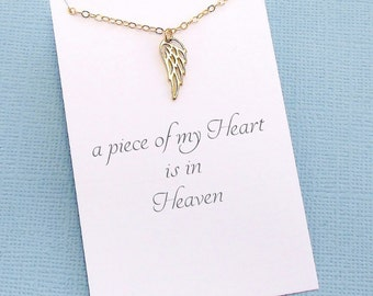 Bereavement Gift | Angel Wing Necklace, Miscarriage Necklace, Condolence Gift, Infant Loss, Miscarriage Gift, Miscarry Gift | R07