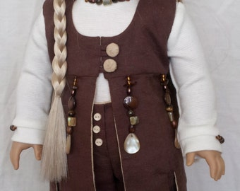 Patchouli Doll Couture Outfit Handmade for 18 inch Dolls by Kizzie Creations
