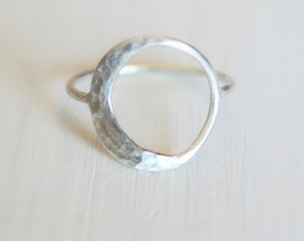 Crescent Moon Ring//Argentium Sterling Silver//Handcrafted//Made to Order