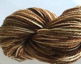 2 Ply Sport, Hand Dyed Superwash Merino Yarn, 100g, 375m, Earth Tones