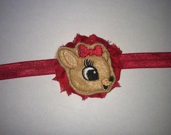 BABY FIRST CHRISTMAS, Holiday baby headbands- Christmas headbands-Baby girl Holiday headbands-Reindeer headbands- Toddler hair holidays,