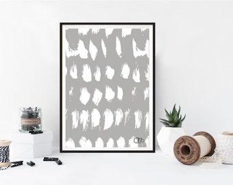 scandinavian print, hygge house mark making brush texture paint modern abstract art surface repeat home decor kids room simplistic trend