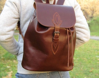 college backpack, Leather Backpack, College backpack, School Backpack,  Large Leather Backpack, Leather Rucksack