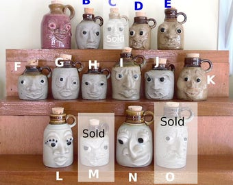 Miniature Face Jugs - Sold Separately