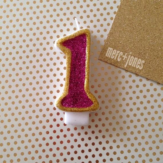 Custom Glitter Sparkle Cake Cupcake Candle