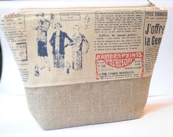 Bohemian clutch bag Small evening clutch linen bag handbag clutch party bag gift idea for women zipper bag women's clutch trendy clutch