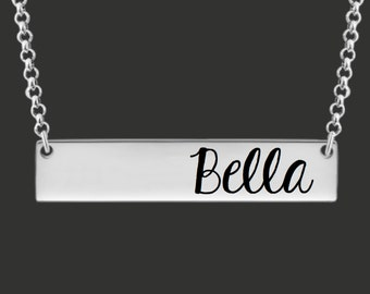 Bar Necklace | Name Necklace | Mommy Necklace | Mommy Jewelry | Mother's Day | Gifts for Mom | Personalized Bar Necklace | Korena Loves