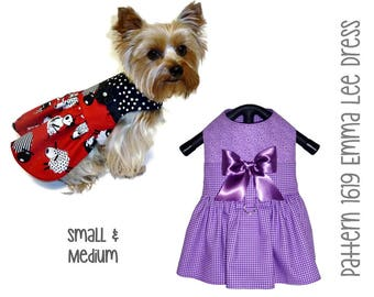 Emma Lee Dog Dress Pattern 1619  * Dog Clothes Patterns * Small Dog Clothes * Small Dog Harness * Pet Clothes * Dog Dress Pattern * Sm & Med