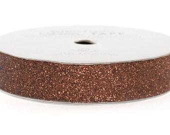 "Glitter Tape Chestnut Brown - 5/8"" x 3 yds - 100% Archival"