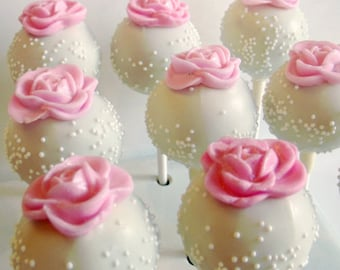 Rose Cake Pops (1 Dozen)