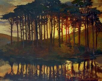 Eveningtide - Giclee Fine Art PRINT of Original Painting matted 16x20 by Jan Schmuckal