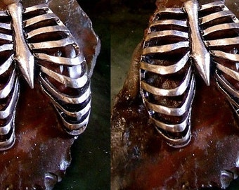 Ribcage Cufflinks Sterling Silver Free Domestic Shipping