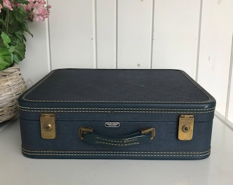 "American Tourister 18"" x 15"" Dark Blue Suitcase Luggage Storage"