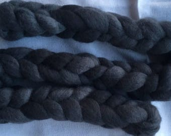 Hand dyed baby Alpaca combed