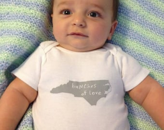 cute baby Onesie®, north carolina baby clothing, north carolina baby gift, north carolina shower gift, baby neutral, cute baby gift,