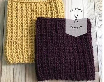 Cameron Cowl PATTERN // Knitting Pattern // Beginner Pattern