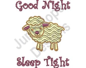 Good Night Rippled Lamb - Machine Embroidery Design