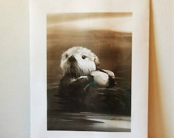 William Ryan Otter Print
