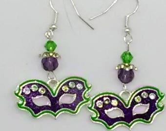 Mardi Gras Mask Earrings