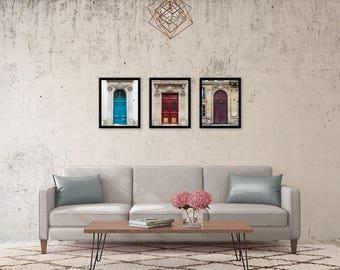 Paris Decor, Paris Doors Photography Set, Door Photos, Paris Travel Decor, Cottage Chic Fine Art Prints - Paris Doors Trio III (Set of 3)