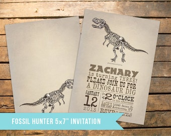 Vintage Dinosaur Fossil Party Pack - Invitation and much more!