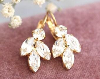 Bridal Crystal Earrings,Swarovski Bridal Crystal Earrings,Bridal Drop Earrings,Bridesmaids Earrings,Crystal Bridal Earrings, Gift For Her