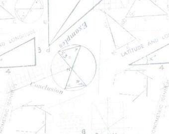 Modern Background Paper Silver White Metrics 1583 11  by Brigitte Heitland of  Zen Chic for Moda