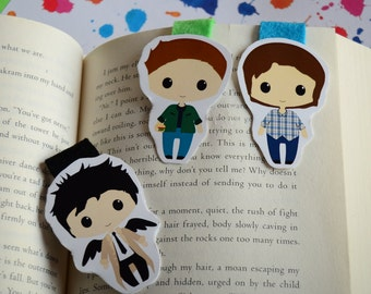 Sam Dean Winchester Castiel Supernatural magnetic bookmark