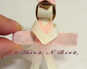 Ballerina Hair Clip Ribbon Sculpture Instruction Set