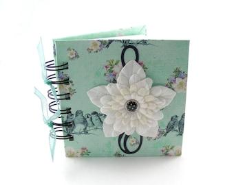 Song Birds Gratitude Book, gratitude journal, thank you book, thank you journal, gratitude diary, blessings book - mint green
