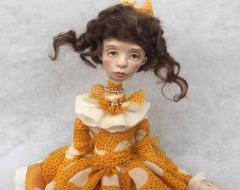 Art doll, ooak doll, collecting doll, clay doll, human figure doll, polymer clay doll, art clay doll, decorative doll