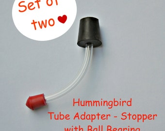 Hummingbird Feeder Tube or Stopper with Ball Bearing - Set of 2!