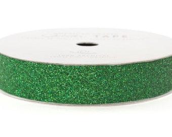 "Glitter Tape Emerald Green - 5/8"" x 3 yds - 100% Archival"