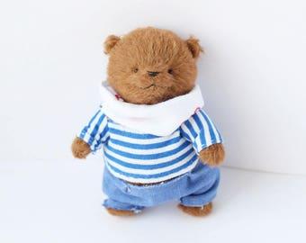 Sold Handmade Teddy Bear Artist Teddy Bear OOAK Bear Stuffed Bear Toy Soft Bear Stuffed Animal Bear Clothes Plush Bear Gift For Her Kawaii