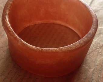Metallic Burnt Orange Resin Bangle Cuff