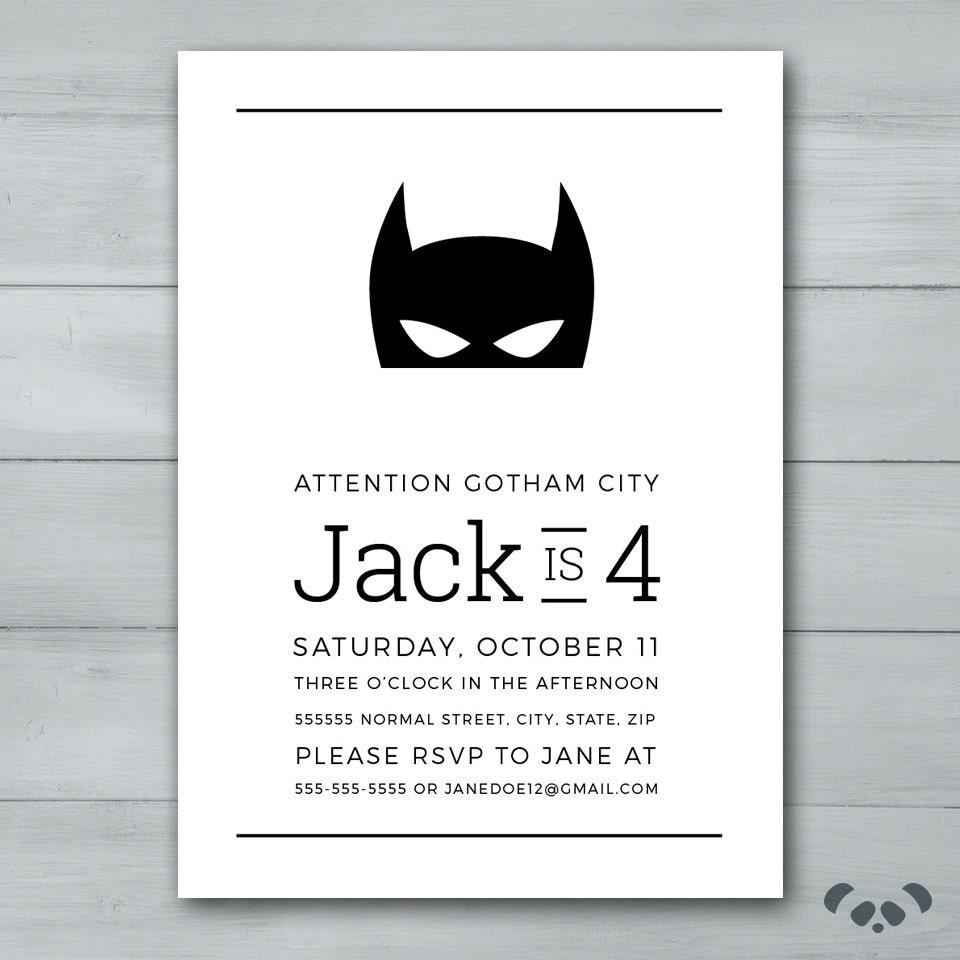 Groß Batman Einladungsvorlagen Ideen - Beispiel Wiederaufnahme ...