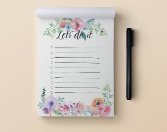 To do list notepad A6. Flora to do list. Daily to do list notepad. Things to do list notepad. Small to do list notebook. To do list pad A6