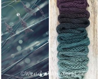 Gradient Dyed Yarn, Hand dyed yarn, Gradient yarn, Wool Yarn,  DK Weight, Morning Dew