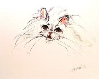 Persian Cat Print