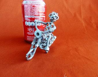 moto motocross motocross rider motocross motocross racing sculpture cadeau cadeau cadeau motocross moto art metal Art du recyclage