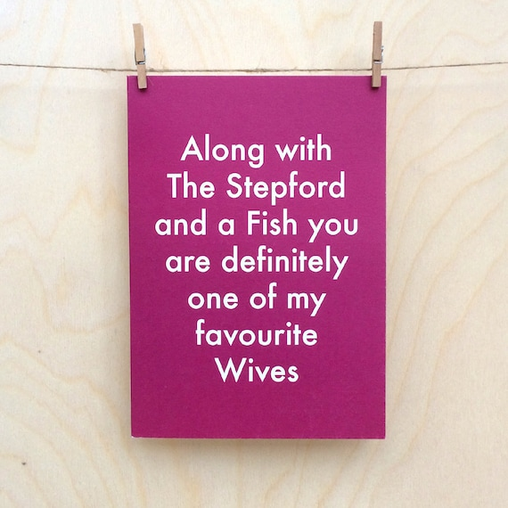 Favourite Wives Card, Funny birthday card, funny love birthday card, funny valentines card, funny wife card, mothers day