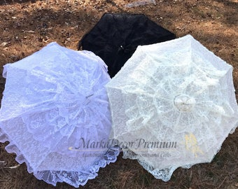 Wedding Parasol Lace Bridal Umbrella with Multi Layers of Gorgeous Lace 1pc