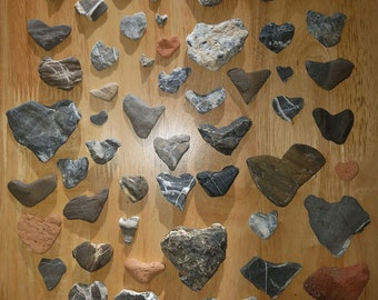 Heart Shaped Rocks (Lot of 50) NATURALLY FORMED from Vermont's Lake Champlain