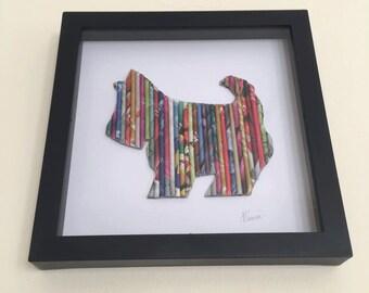 Scottie-Hund-Wand-Kunst, Geschenke für Hundeliebhaber, Tierliebhaber, 3D Hund Thema, Kinderzimmer Kunst, Kinderzimmer-3D-Dekor, Dekor, Kinder-Dekor, Neugeborene Geschenk Home