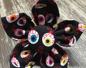 Flower Collar Attachment & Accessory for Dogs and Cats -  HALLOWEEN Scary Crazy Eyes
